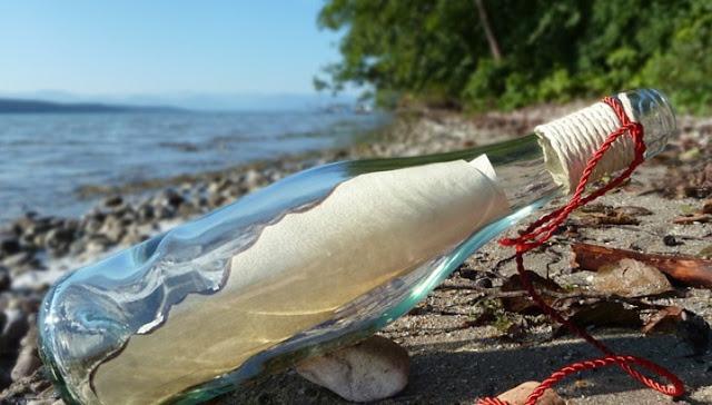 Британец нашел в море бутылку с посланием от семьи из Подмосковья