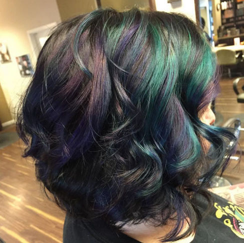 Falls trendiest hair colors oil slick hair is what opal can be on dark hair without bleaching your entire head its inspired by the mingling of oil in water which creates those shiny solutioingenieria Images