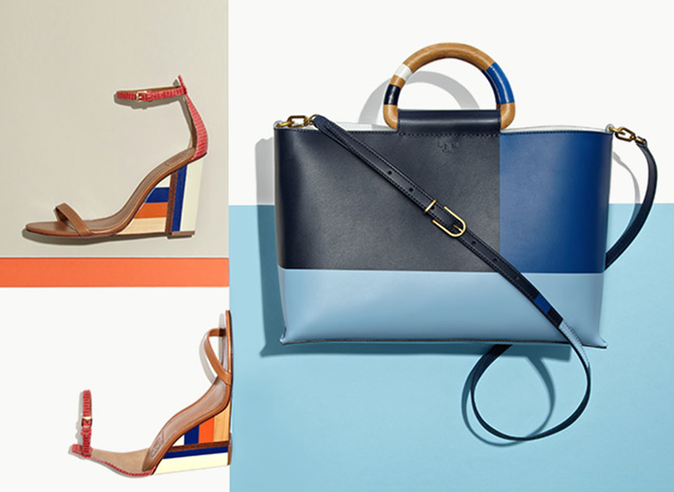 Tory Birch ss15 accessories, color block