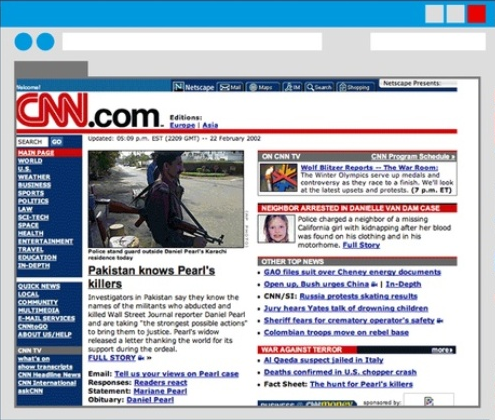 CNN website screenshot at 2002: Intelligent Computing