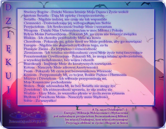 Ja Dziękuje Wdzięczność Dziękczynienie – Duchowy Uzdrowiciel