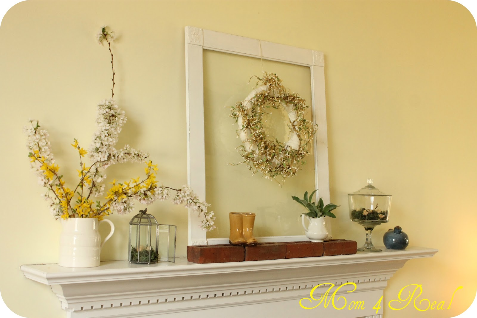 Mantel Decorating Brilliant With Spring Mantel Decorating Ideas Pictures