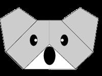 Cara Membuat Origami Wajah Koala