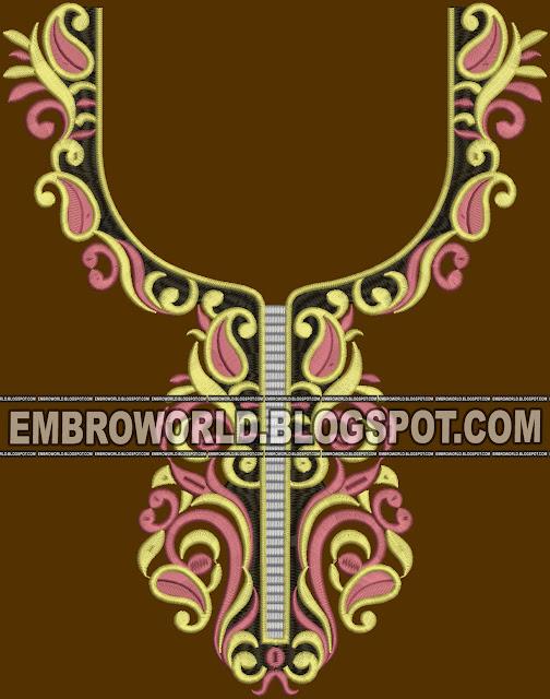 bordado de la computadora diseñador diseño yugo del cuello