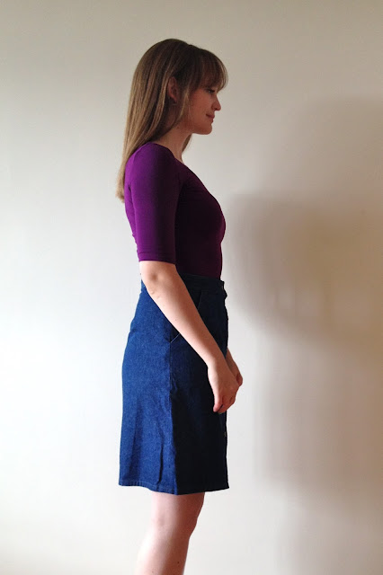 Diary of a Chain Stitcher: Bamboo Jersey Tilly & The Buttons Agnes Top & Denim McCalls 6696 Skirt