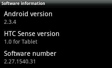 HTC Flyer güncellemesi