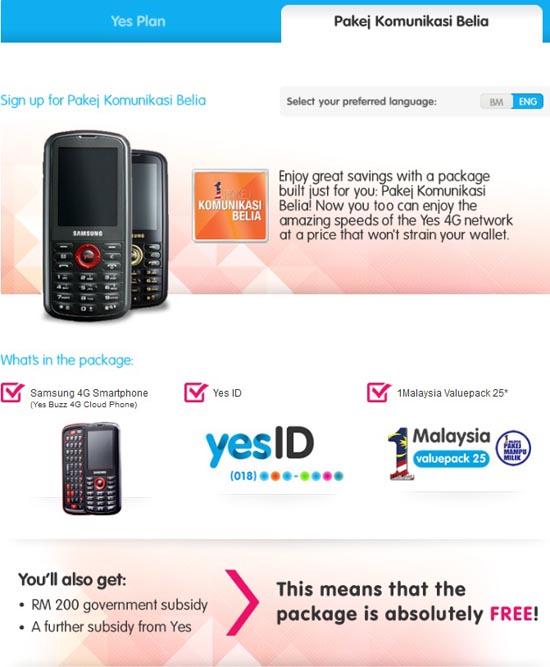 Pakej Komunikasi Belia YES
