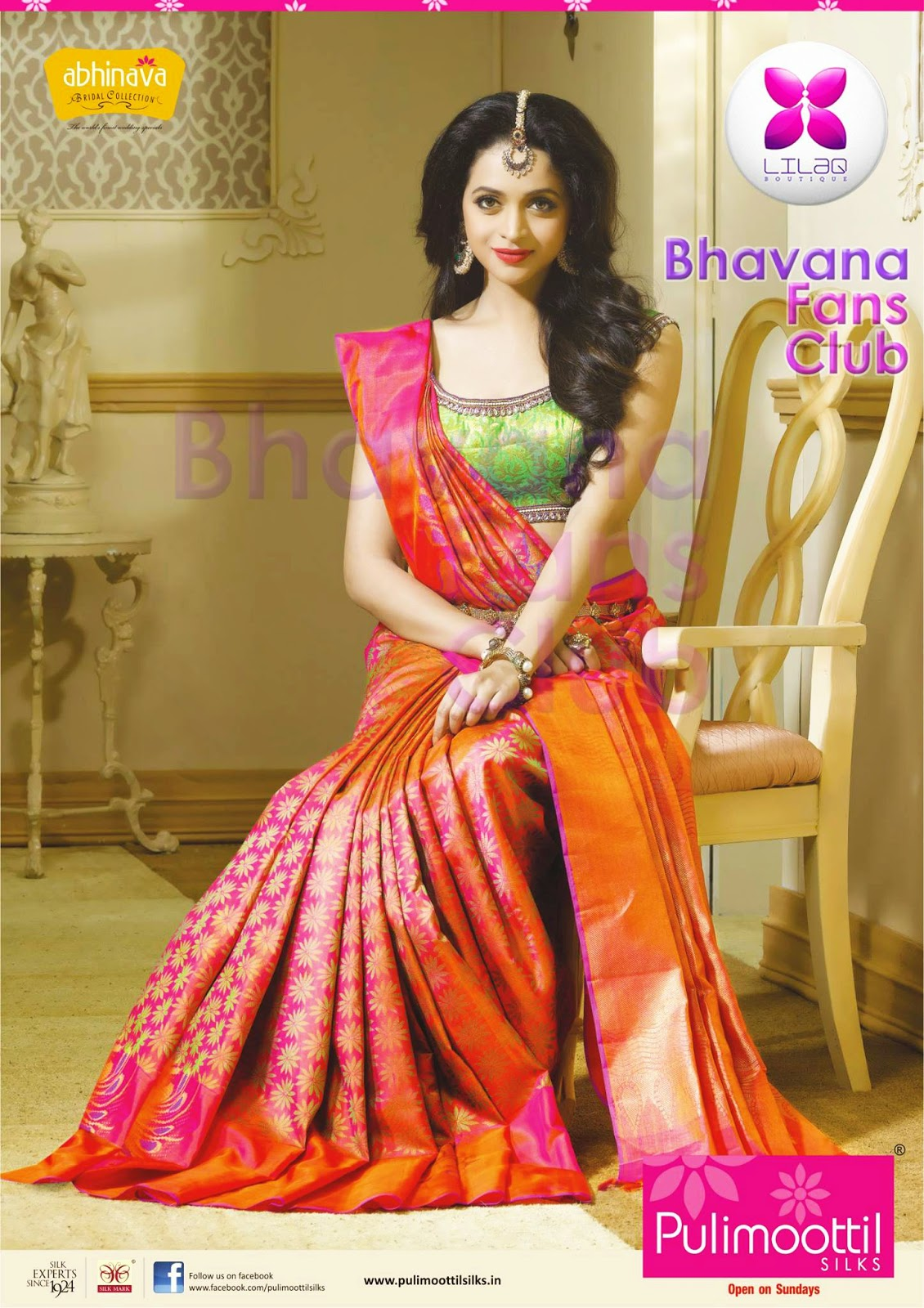 New pulimoottil silks advertisement actress bhavana fans club print email altavistaventures Image collections
