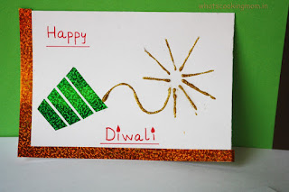 Easy Homemade Diwali Card For Kids