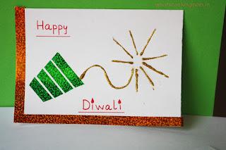 Easy Homemade Diwali Card For Kids
