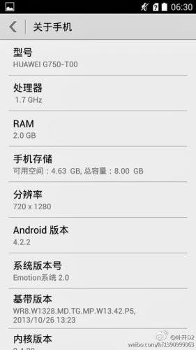 Svelate alcune caratteristiche hardware/tecniche di un nuovo Phablet di Huawei
