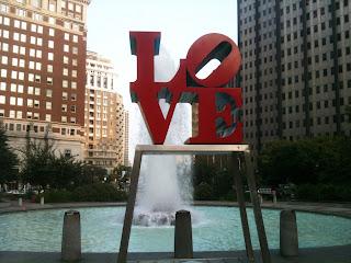 Love Sculpture in Philadephia