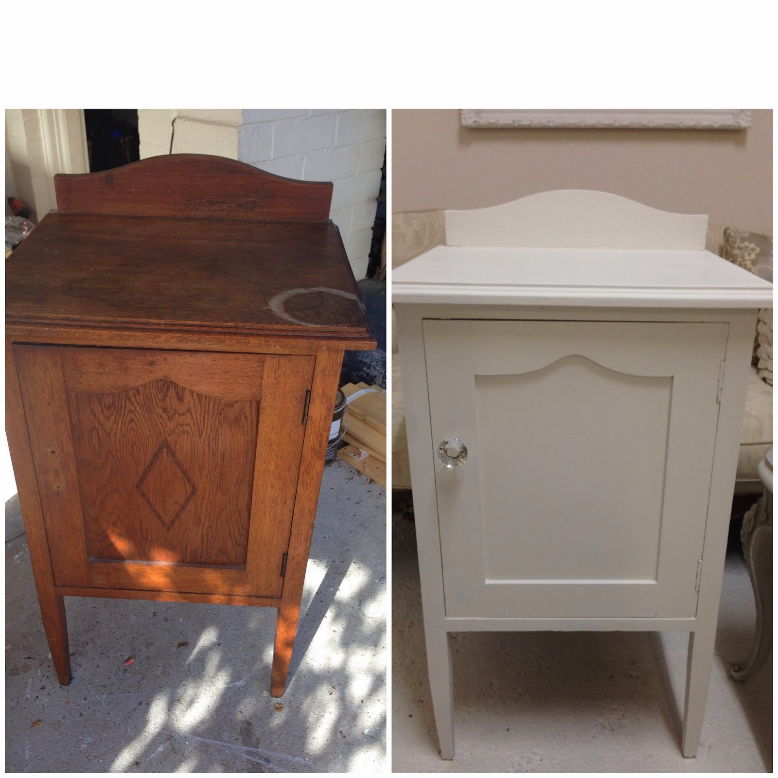 Before and After painted pot cupboard Lilyfield Life
