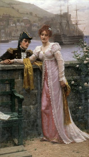I love the clothing ? women in bustles and corsets, or high Empire ...