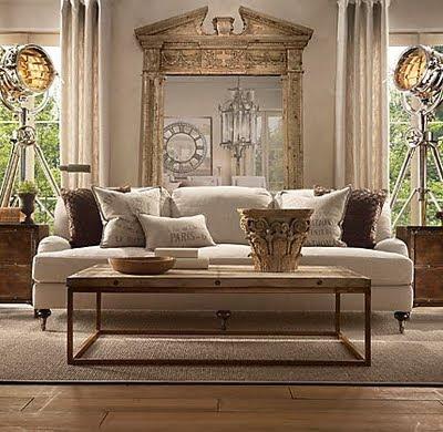 Open house staging urban farmhouse - Restoration hardware living room ideas ...