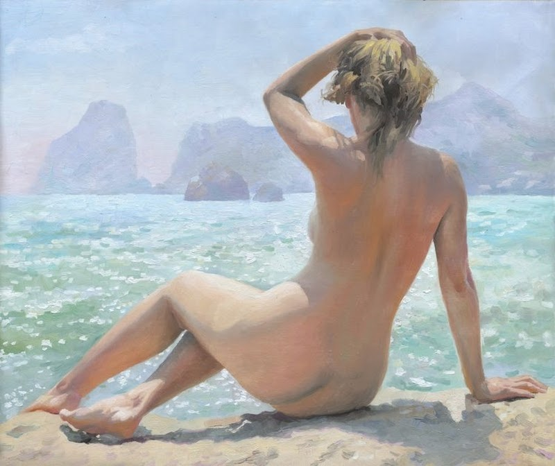 D.W.C. On The Sea Side - Painter Denis Chernov
