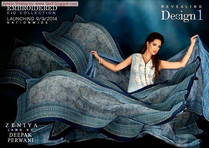 Deepak's Zeniya Embroidered Eid Lawn
