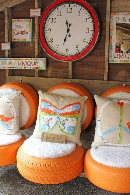 diy opona fotel