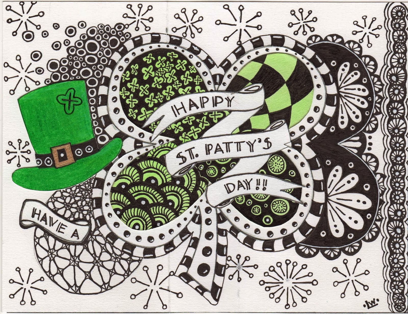 Tangle Your Own - St. Patrick's Day Card