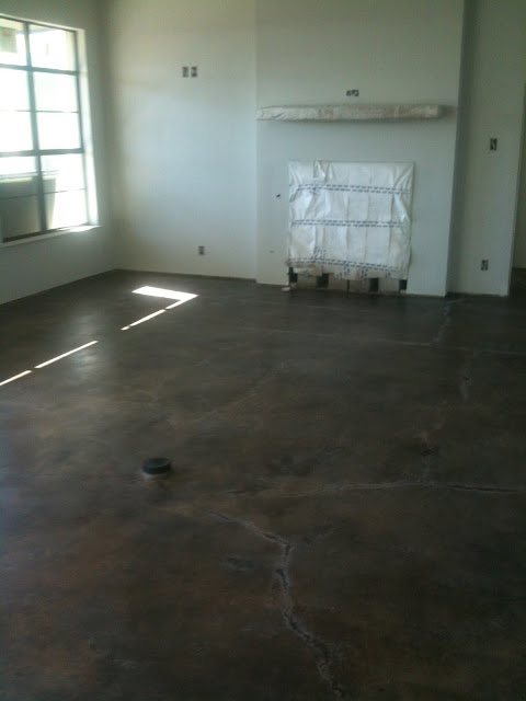 Hill Country Homebody Concrete Floor Progress