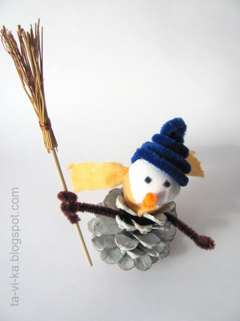 Поделка детская снеговик