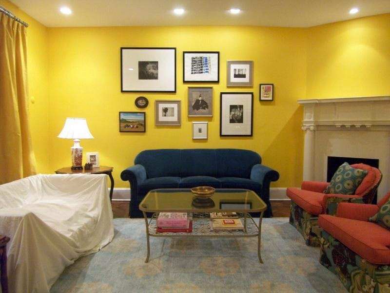 living room yellow paint colors Design ideas1