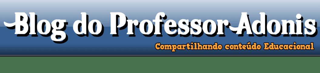 Blog do Prof. Adonis - Simulados prontos para baixar.