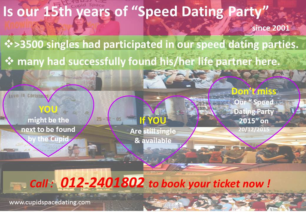 Cupid speed dating events
