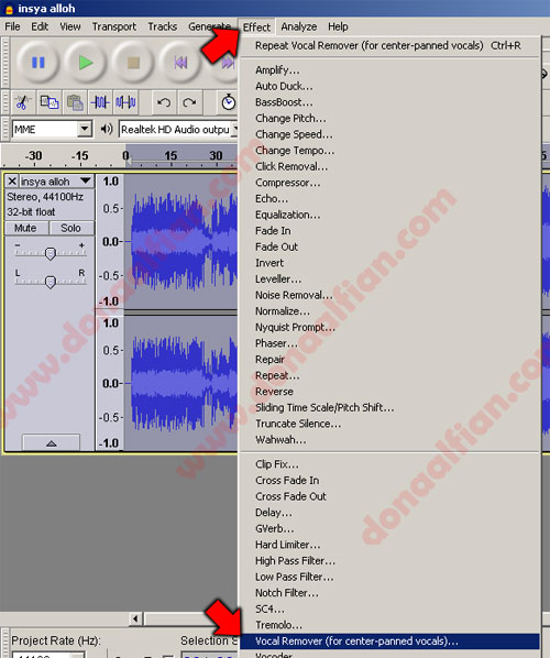 Membuat Karaoke dari MP3 - MP3 to Karaoke