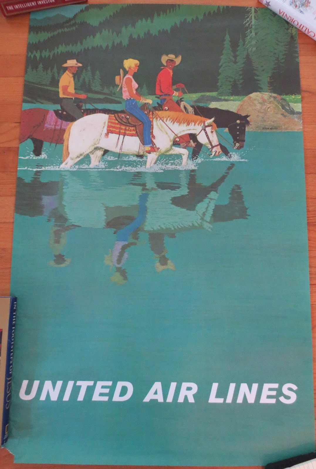 1 original for each united airlines poster 25x39 inches