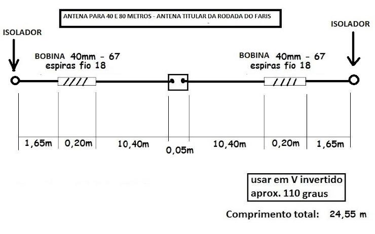 BOBINA SIMPLES PARA 40 E 80 METROS