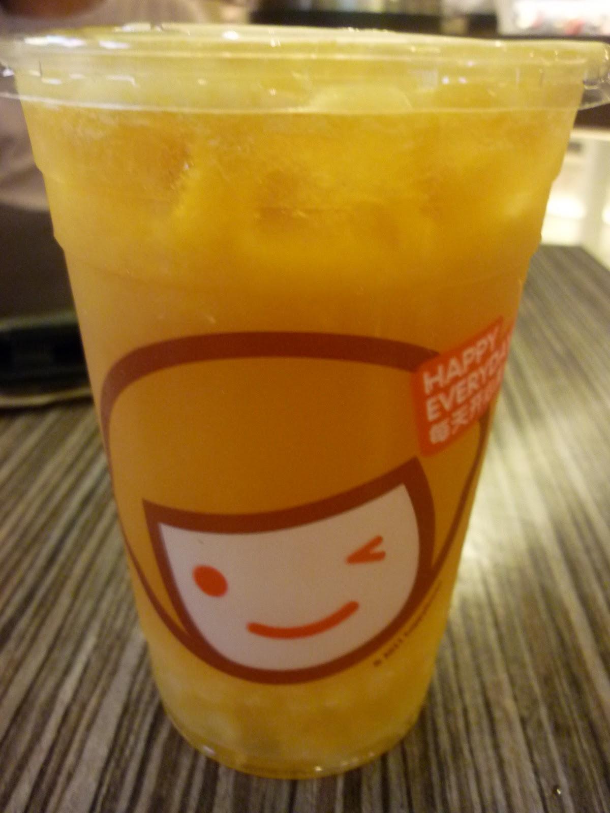 The QQ Brilliant Tea was a bit tart for me.