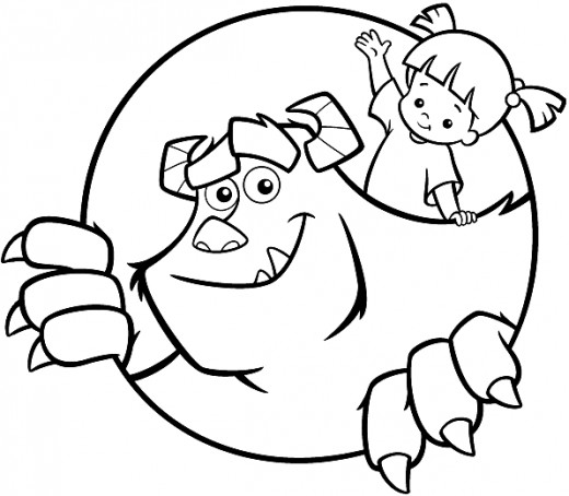 Fun Coloring Pages Monster Inc Coloring Pages Sulley Coloring Page