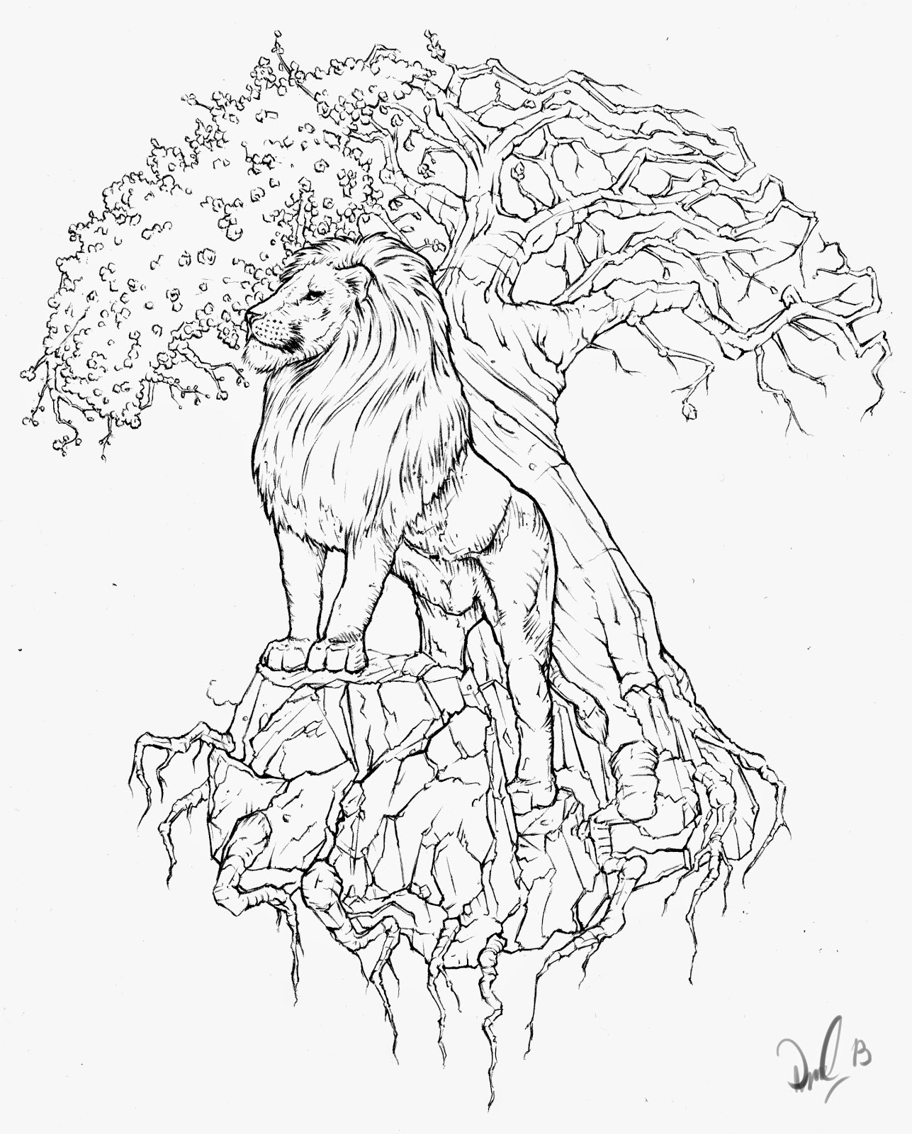 Dan Bede Fazekas Art Blog Lion And Tree Of Life Tattoo Design
