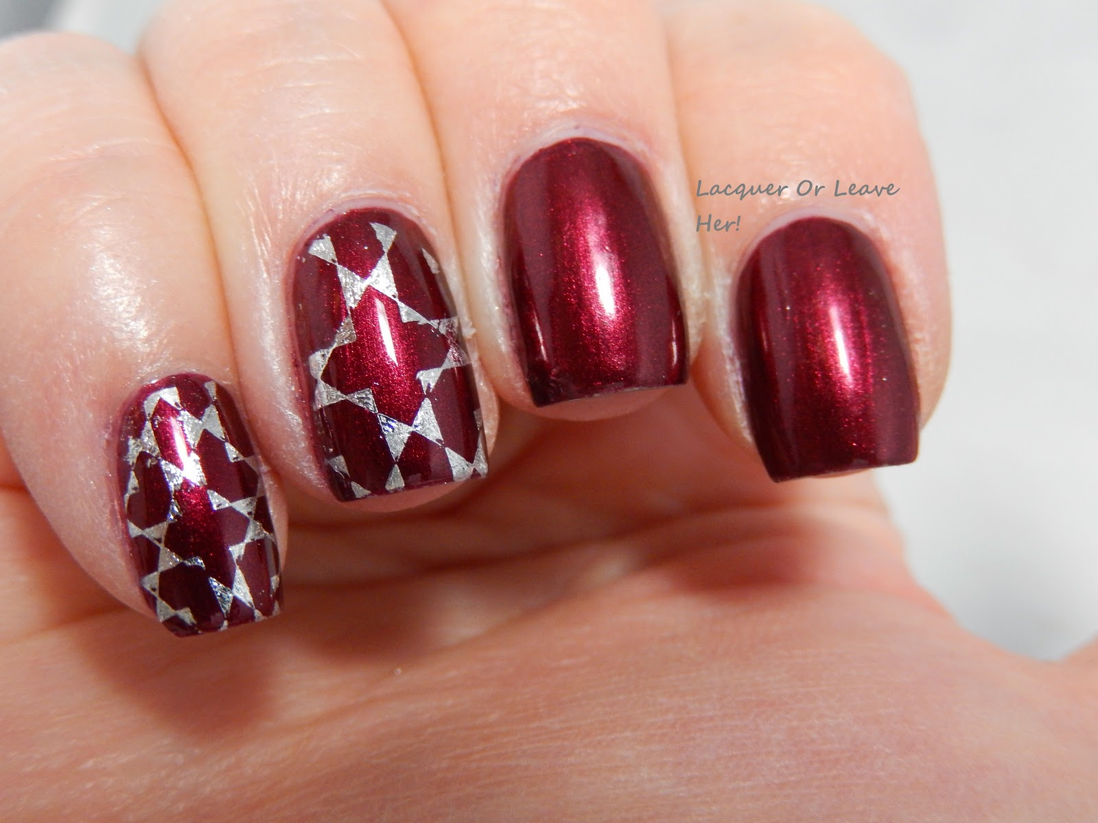 stamping with nail foil
