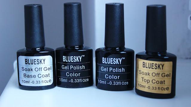 Zaczynam przygodę z hybrydami. BlueSky Nails :)