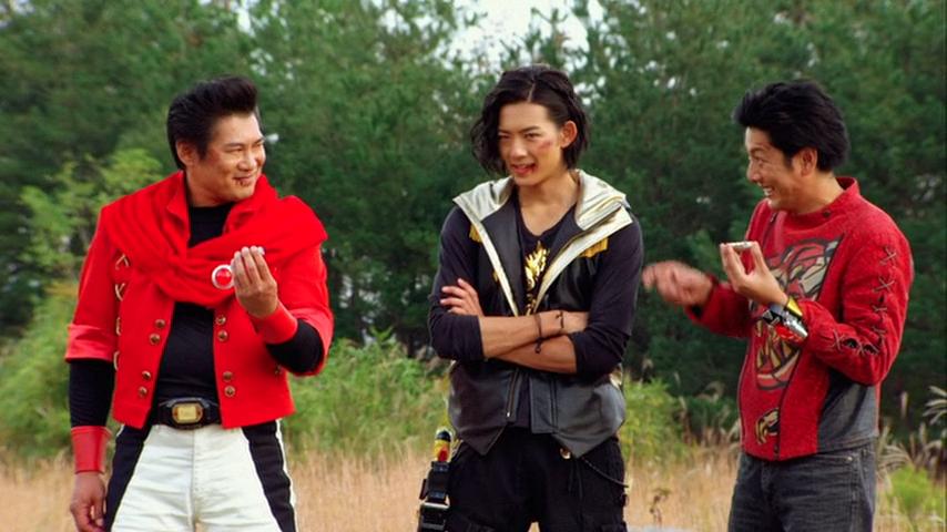 Zyuranger and Abaranger reds Geki & Ryouga return
