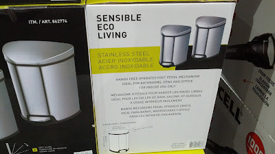 Sensible Eco Living Stainless Steel Fingerprint-resistant 4.9L Trash for garbage