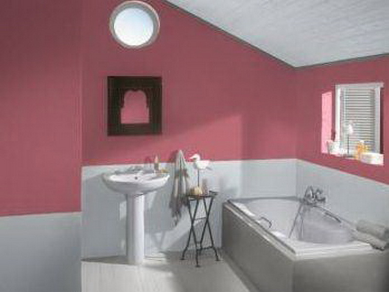 Crisp bathroom paint colors for mood booster yonehome 2 color bathroom paint ideas