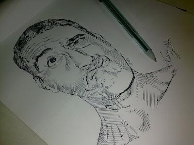 Lázaro Vergne Paim - desenho com caneta esferográfica