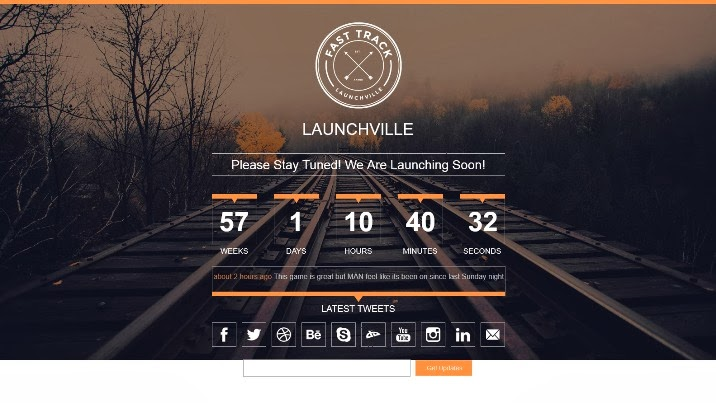 Launchville - Responsive Coming Soon HTML Template