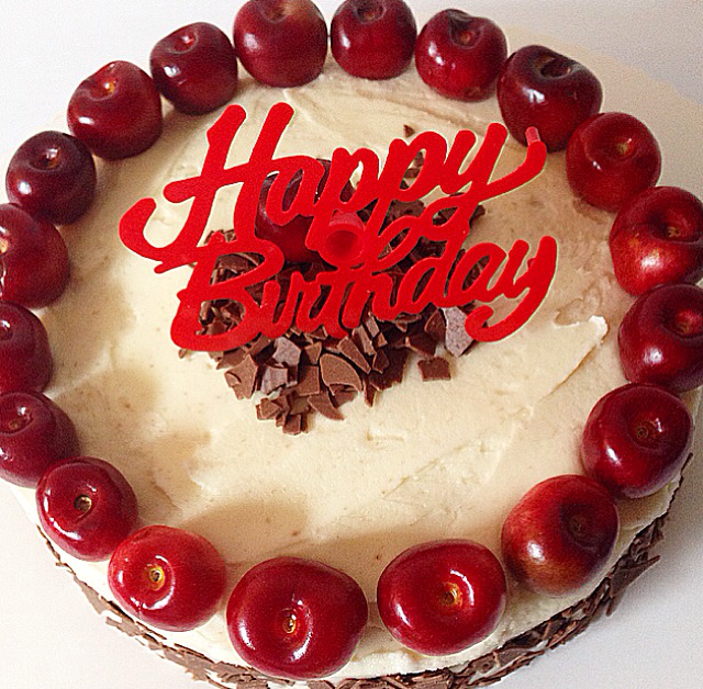Beautiful Love Cake Images : Baking is Love: black forest birthday cake.