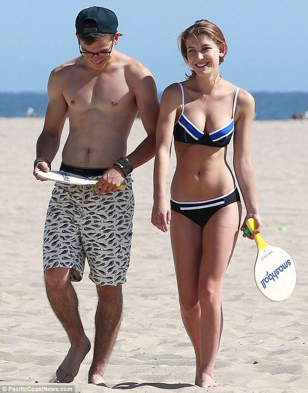 Nathalia Ramos Indulges Into Beach Sports In A Black