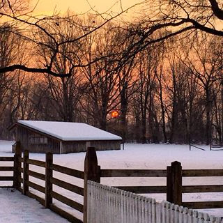 Winter_sunset_February_2014_Pennsbury_Manor