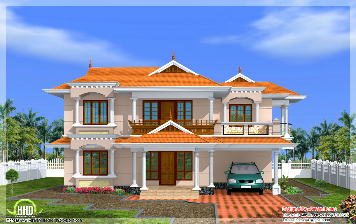 Kerala model home in 2700 kerala home design and for Home designs com