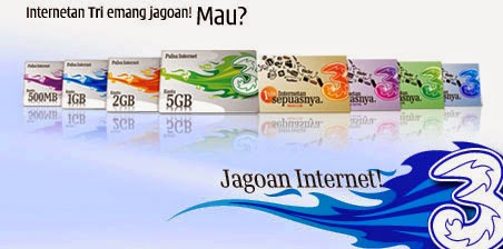 Promo Daftar Harga Paket Internet 3 Three Terbaru
