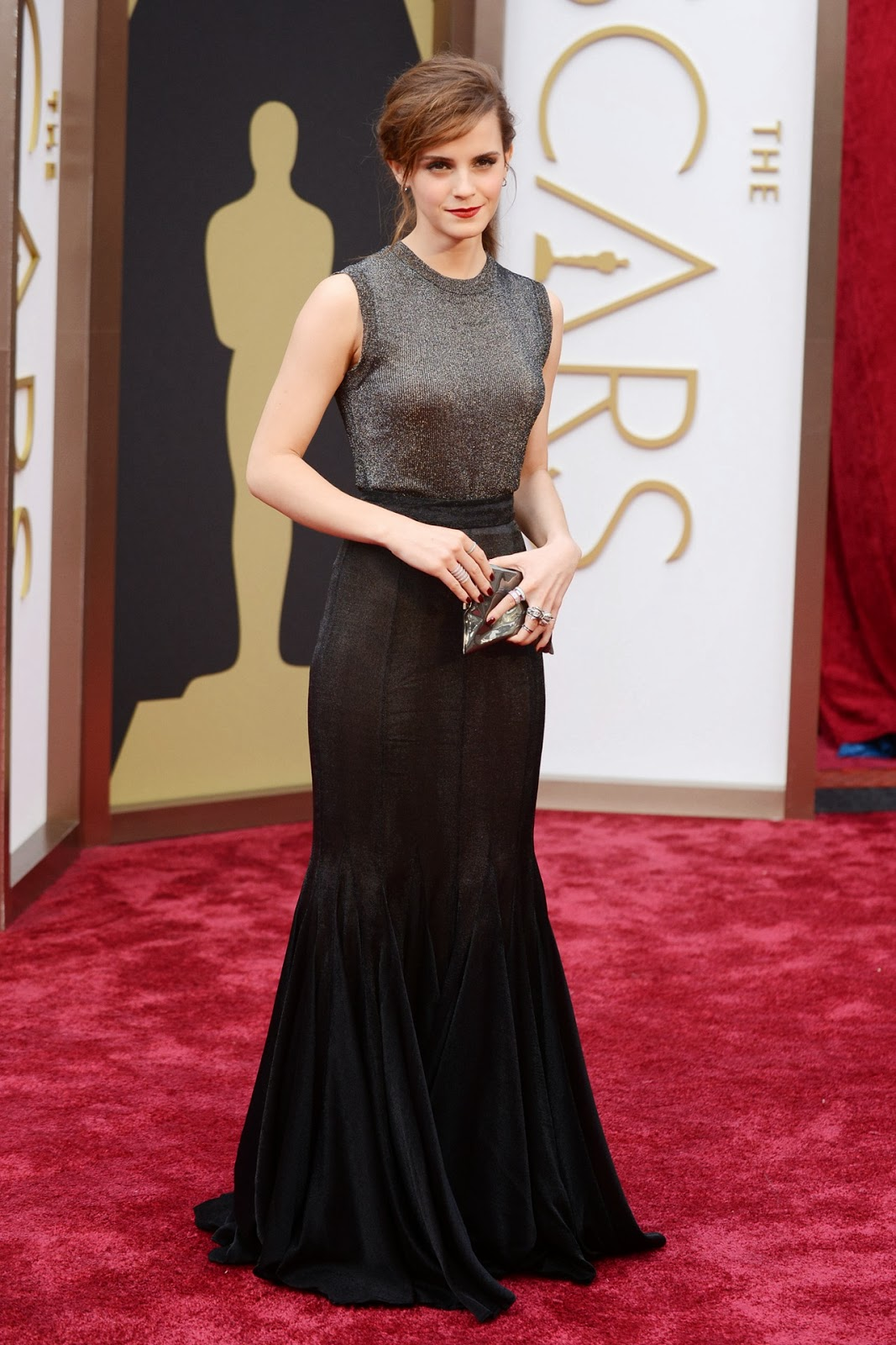 Emma Watson in Vera Wang at the Oscars