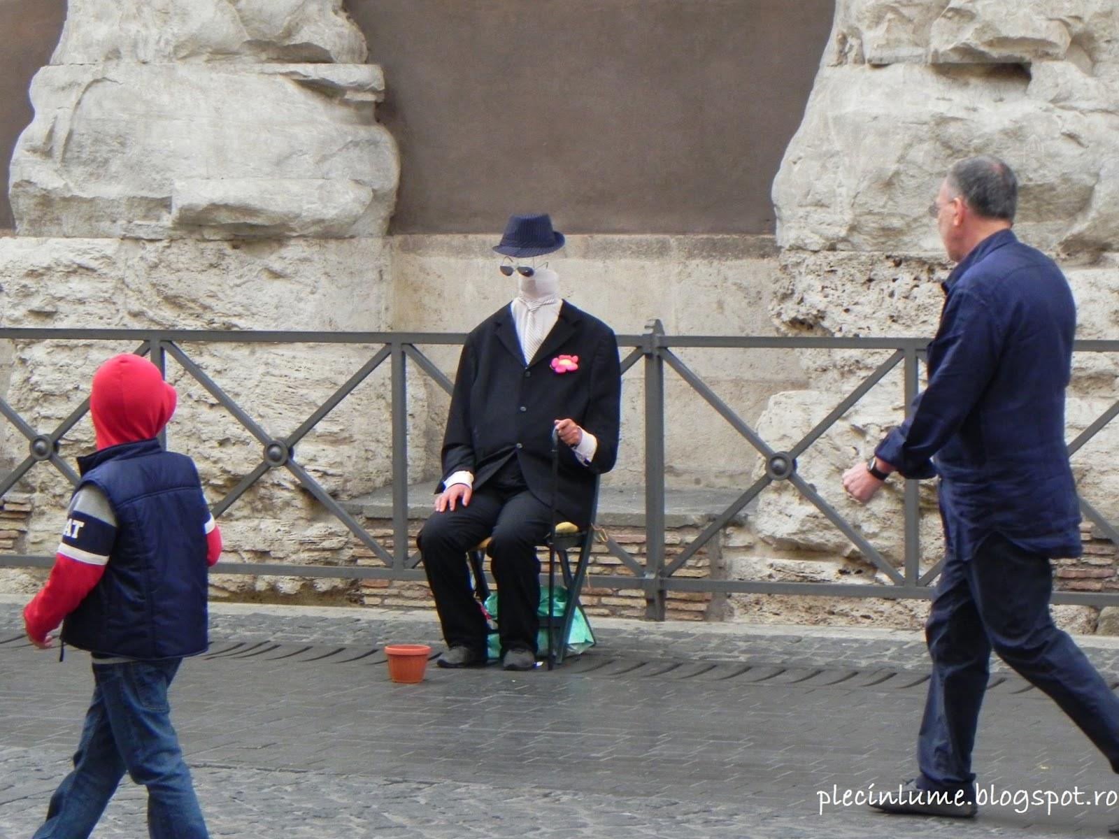 Statuie umana in Roma