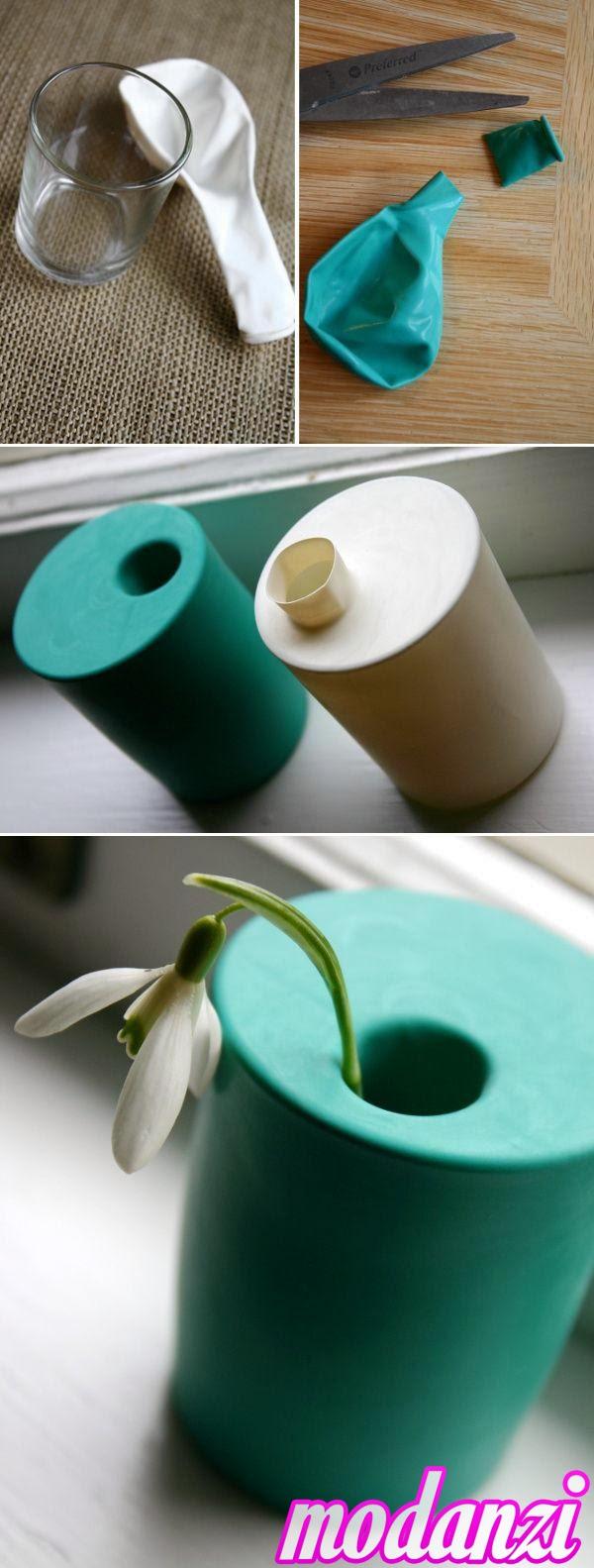 Balon ve Bardak ile Dekoratif Vazo Yapımı (Resimli Anlatım)