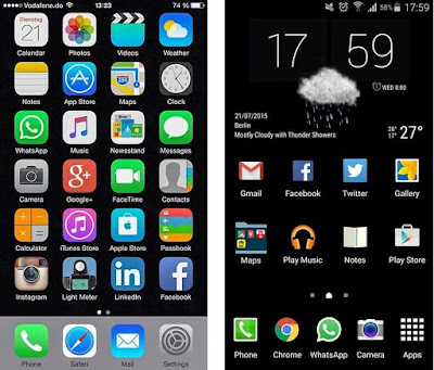 Galaxy S6 Edge+ vs. iPhone 6 Plus software interface